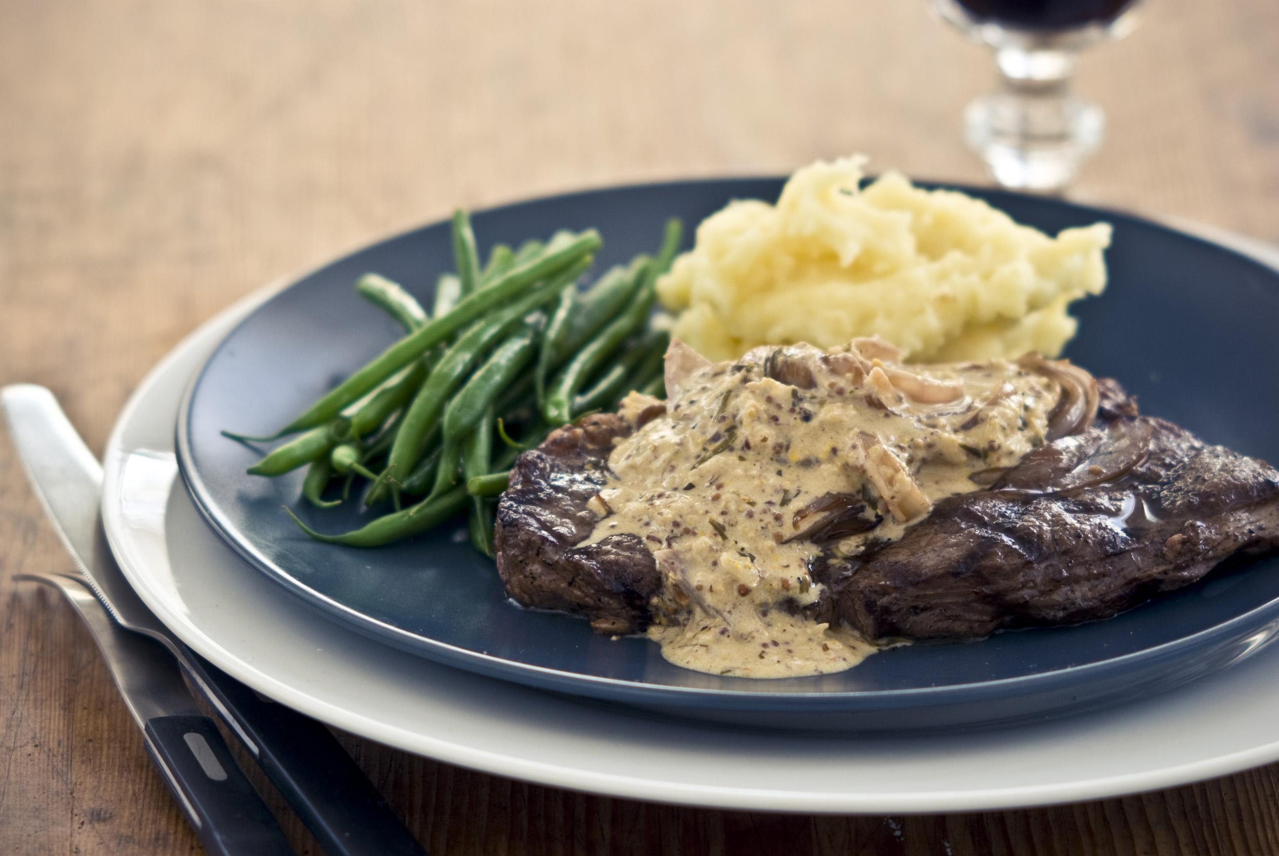 Sirloin Steaks With Shallot And Horseradish Sauce Tracklements