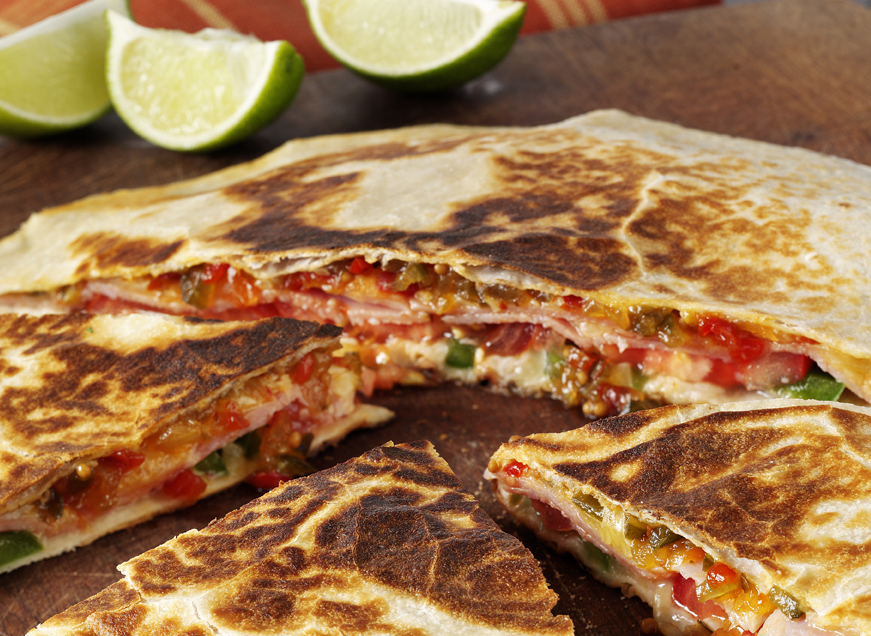 Cucumber and Red Pepper Relish Quesadillas