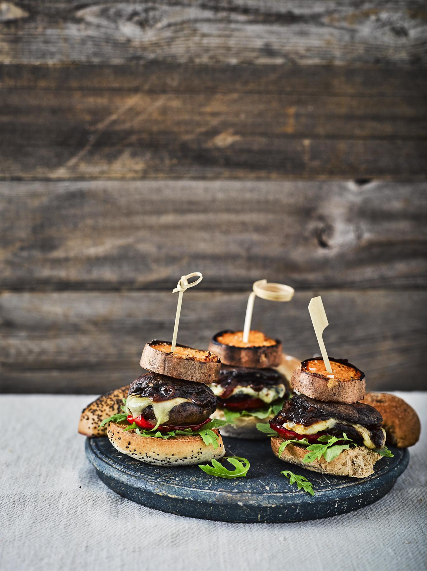 Mushroom and Blue Cheese Sliders