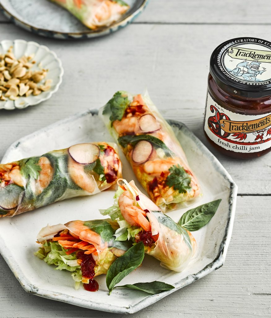 Thai Prawn Spring Rolls with Fresh Chilli Jam