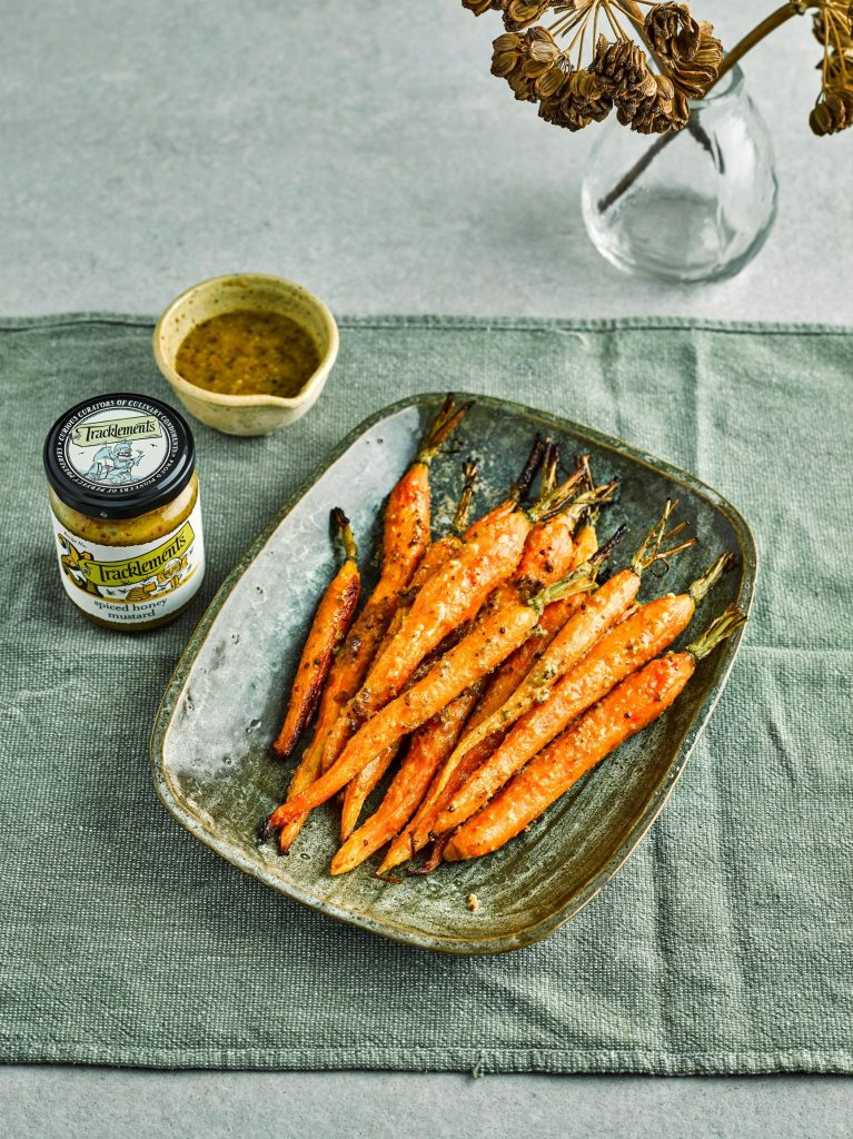 Glazed Carrots with Spiced Honey Mustard