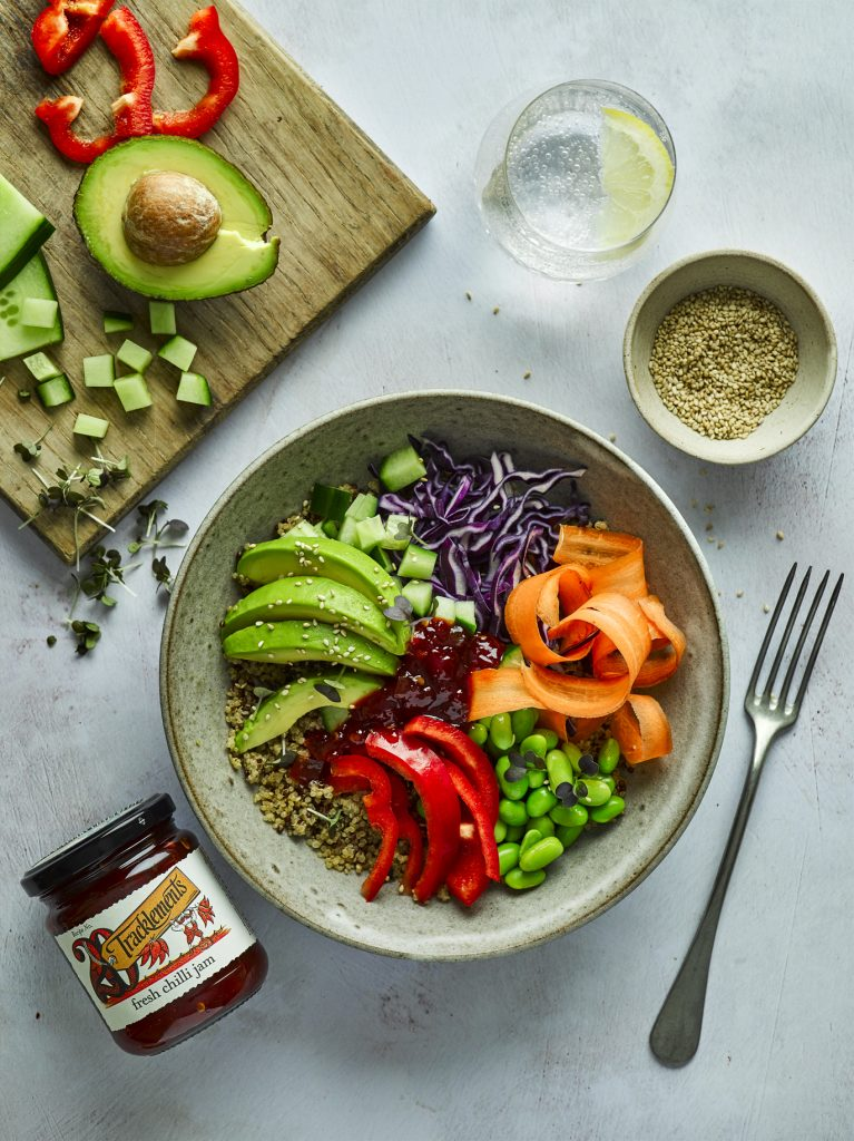 Buddha Bowl with Fresh Chilli Jam