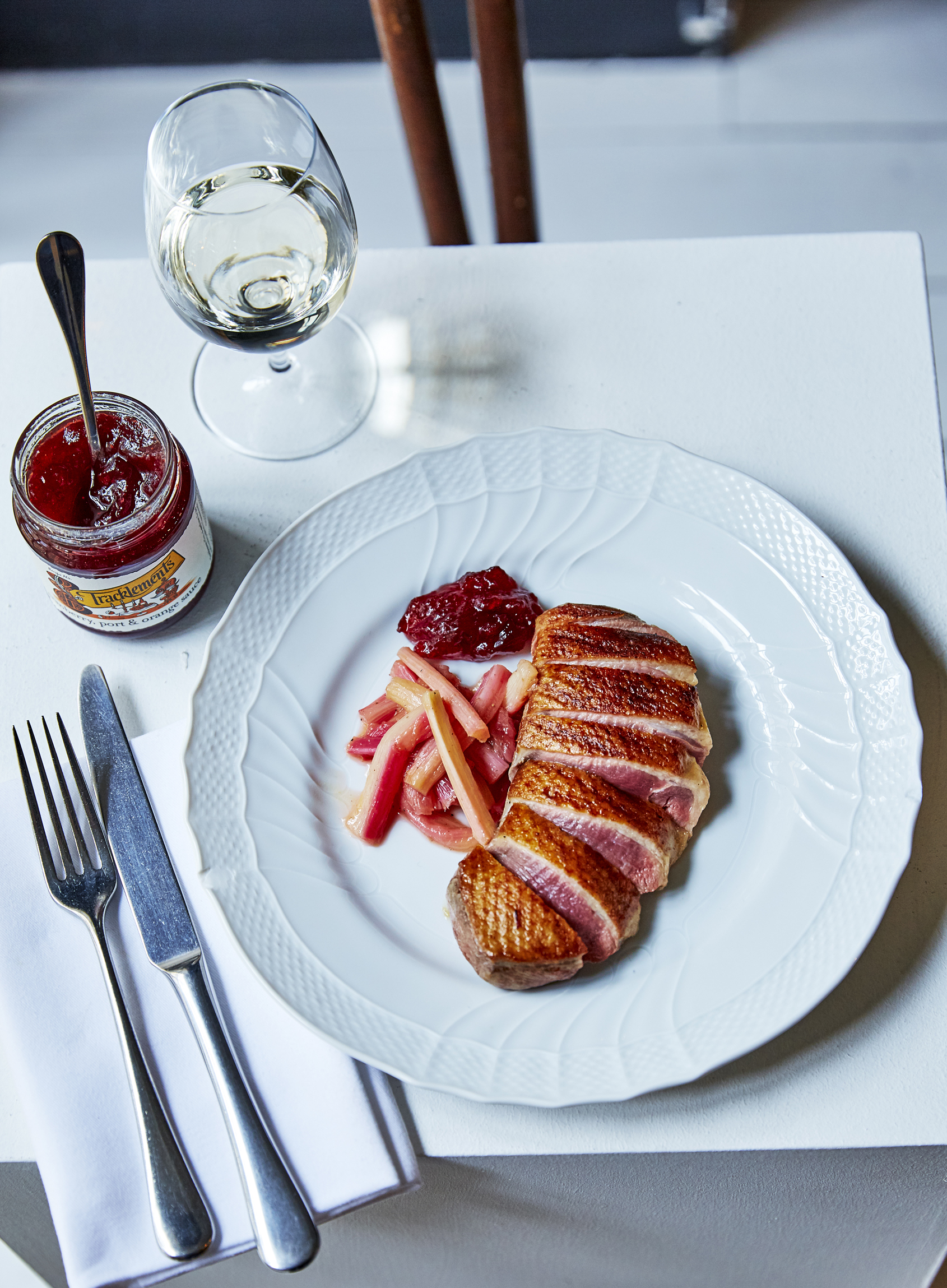 Duck Breasts with Sweet & Sour Rhubarb