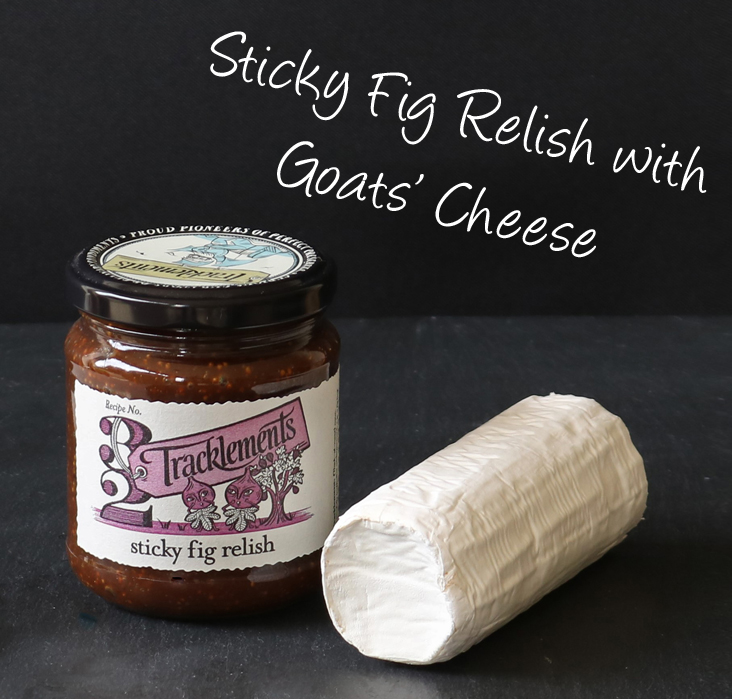 Sticky Fig Relish and Goats' Cheese