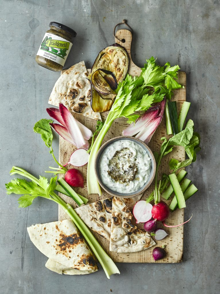 Sensationally Simple Tzatziki and Cruditees with Traditional Mint Sauce