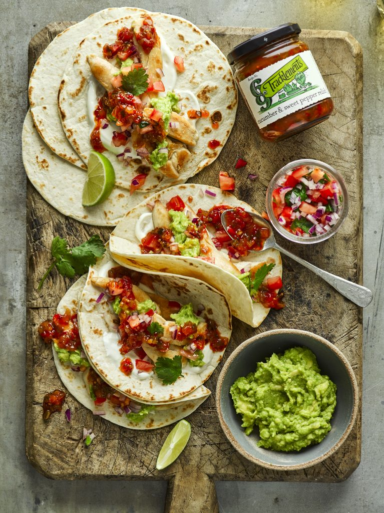 Cucumber & Sweet Pepper Relish Tacos