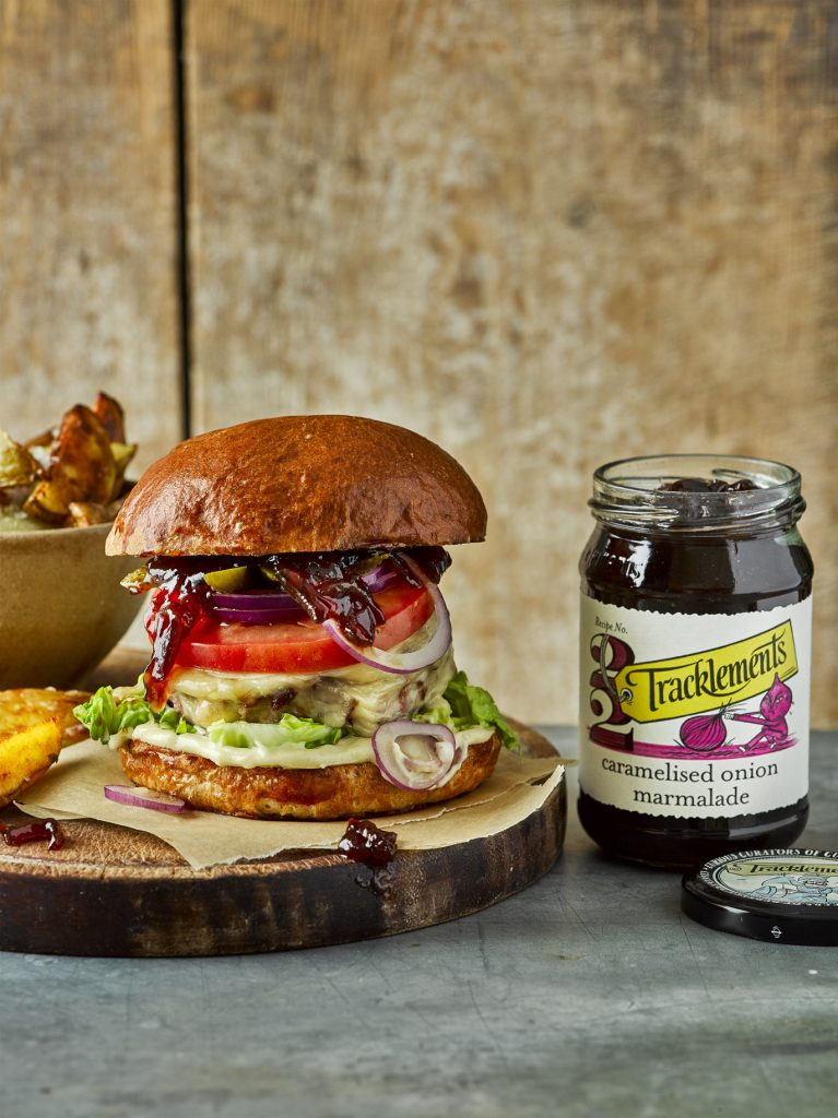 Caramelised Onion Marmalade Burger