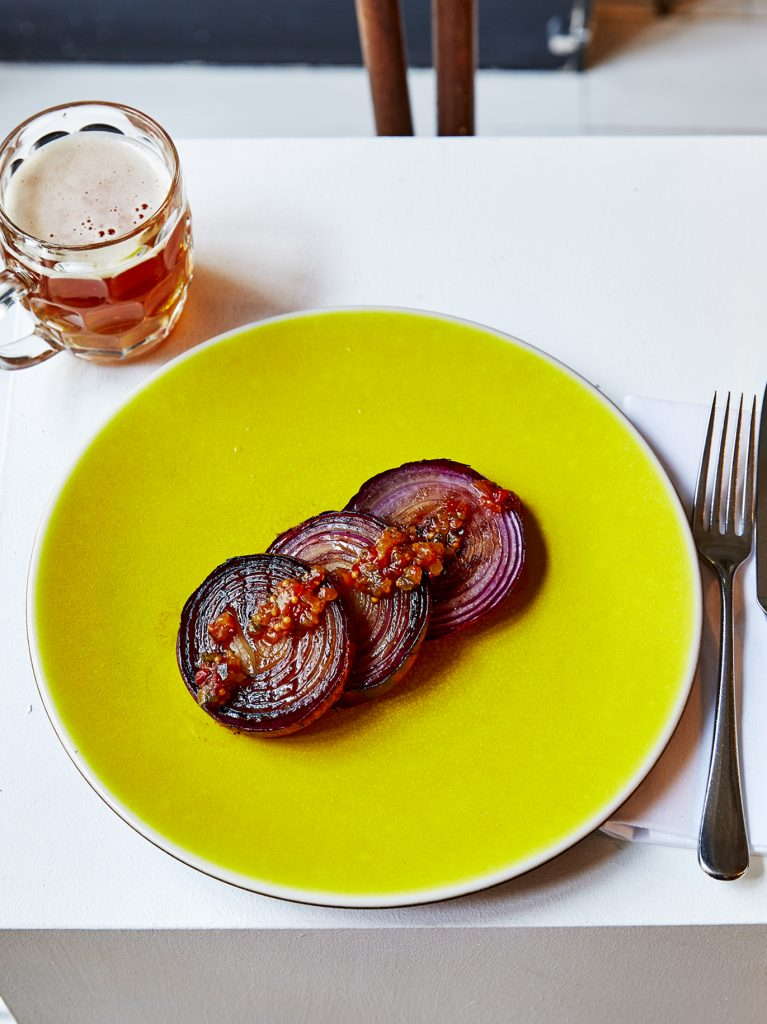 grilled red onion