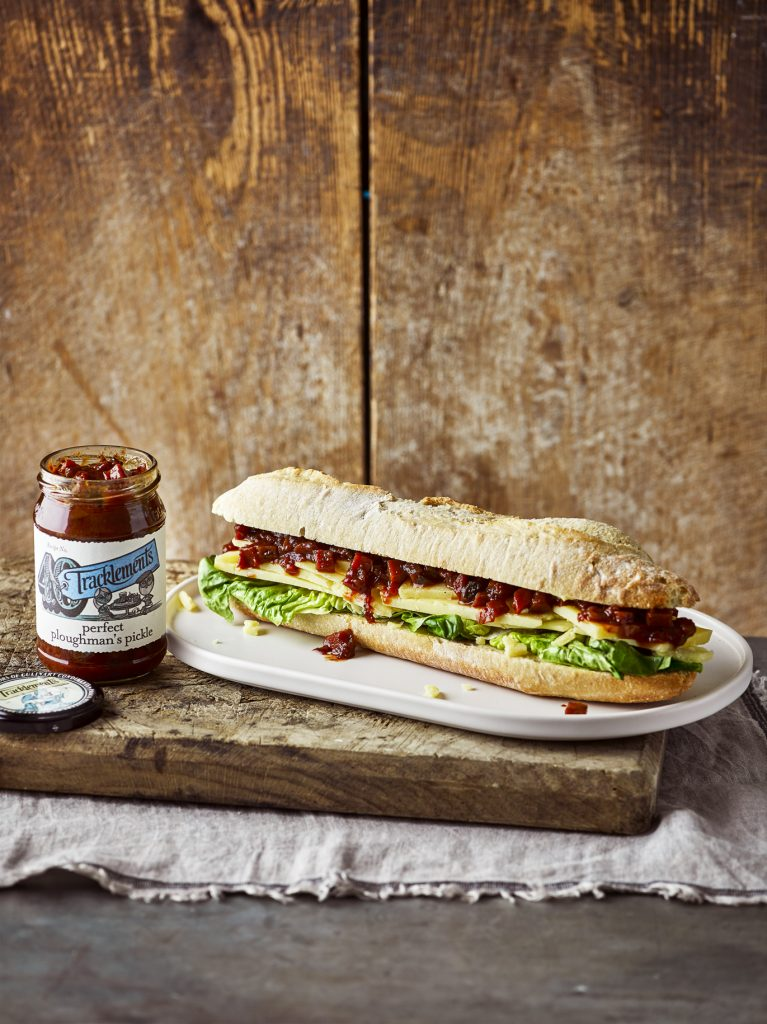 Cheddar Ploughman's Sandwich with Perfect Ploughman's Pickle