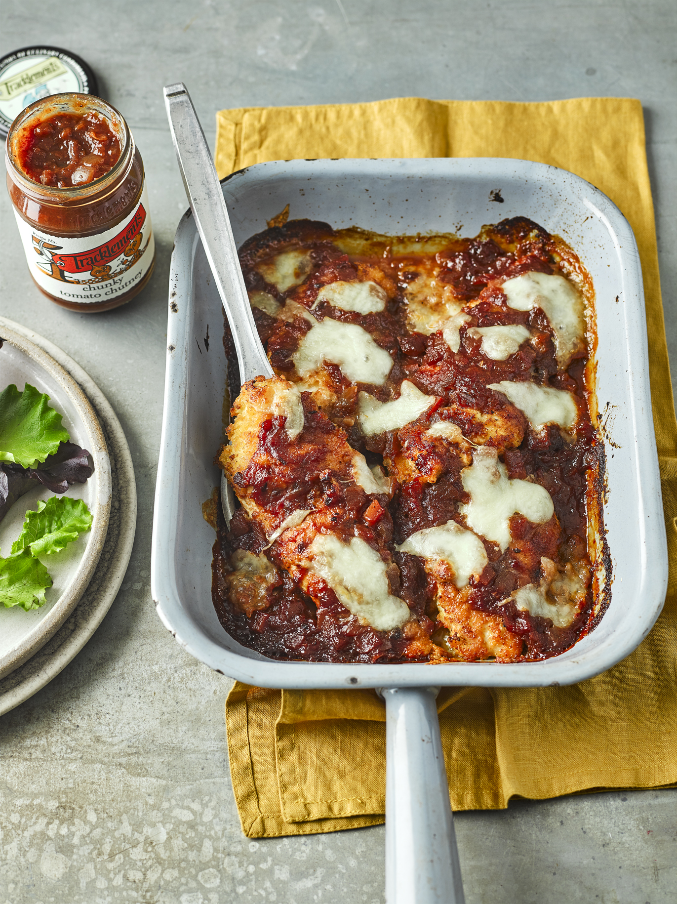 Chicken Parmigiana With Chunky Tomato Chutney Tracklements