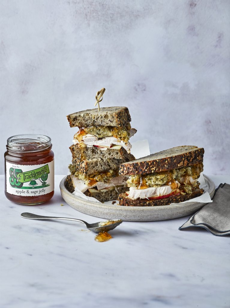 Pork, Stuffing and Apple & Sage Jelly Sandwich