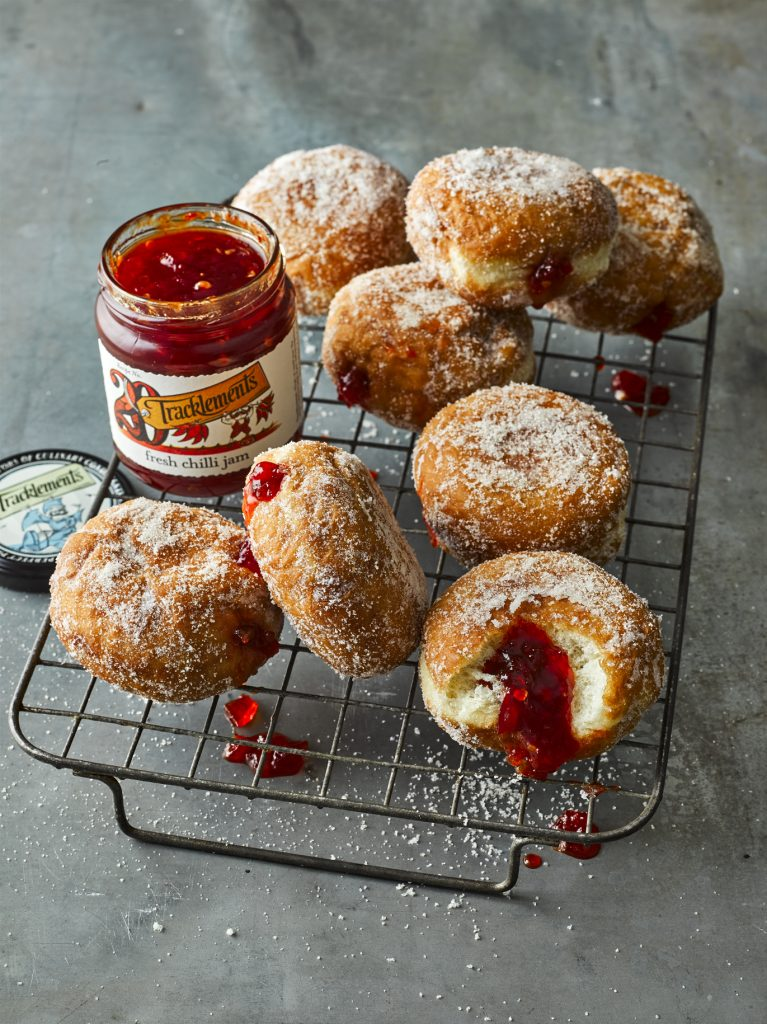 Fresh Chilli Jam Doughnuts