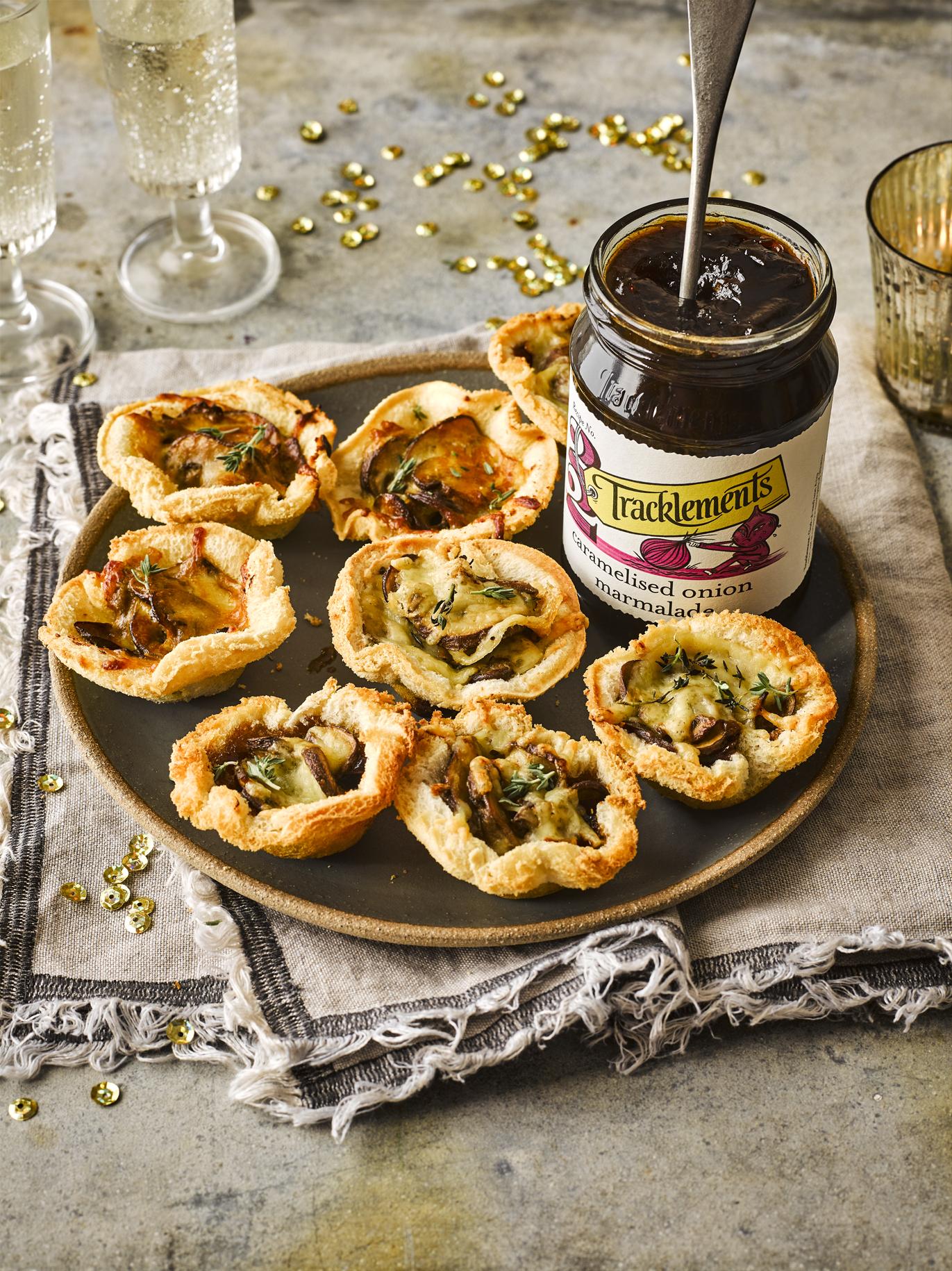 Mushroom and Caramelised Onion Marmalade Canapes