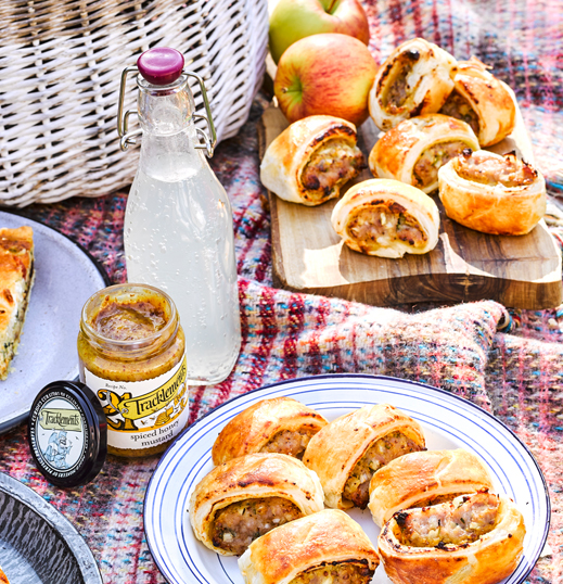 Spiced Honey Mustard Sausage Rolls